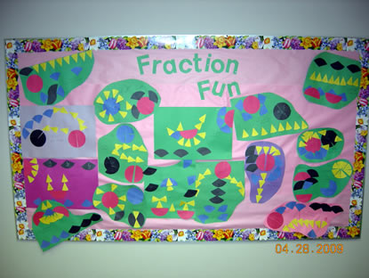 Fraction Fun bulletin board